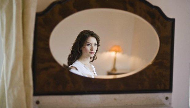 zrcadlo žena