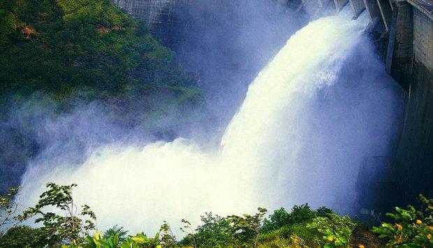 Srí lanka vodopád