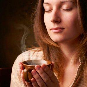 káva žena