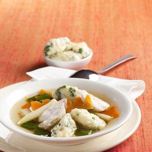 Kuřecí polévka s rýžovými nočky