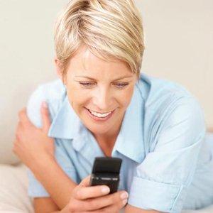 žena mobil