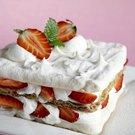 jahody sněhový dort