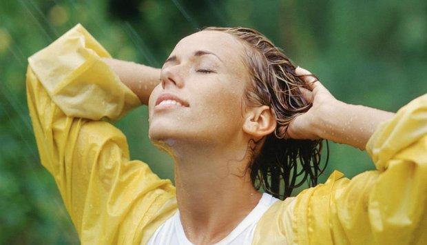 žena déšť