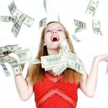 žena peníze