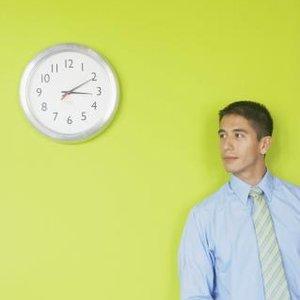 muž hodiny