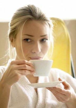 žena káva kafe
