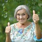 Šťastná důchodkyně