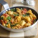 Rychlé indické kuře se špenátem a rajčaty