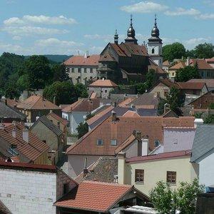 třebíč střechy katedrála
