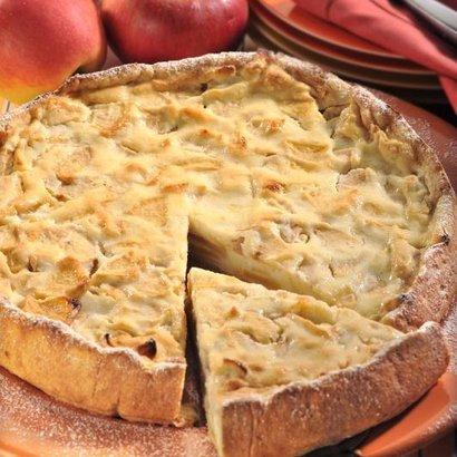 Rychlý koláč s jablky a tvarohem