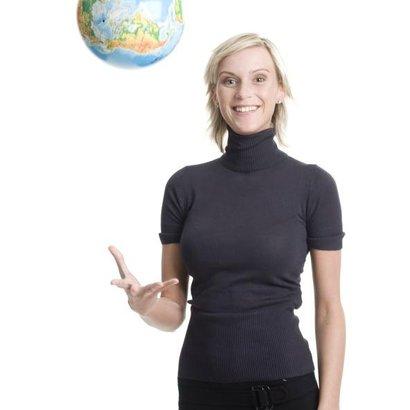 žena globus