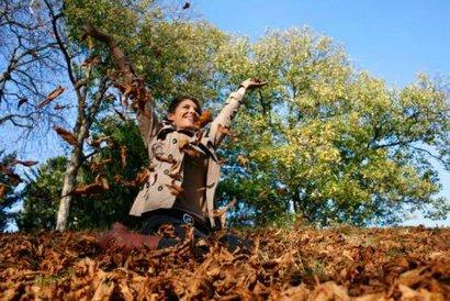 podzim žena