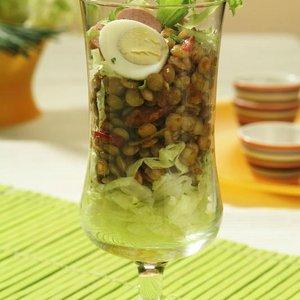 menu salát čočka