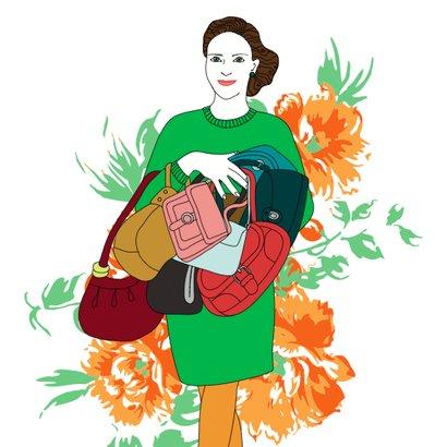 kabelky ilustrace