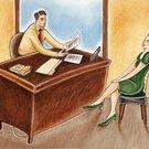 pohovor ilustrace