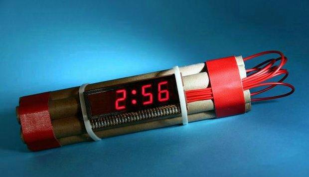bomba hodiny čas