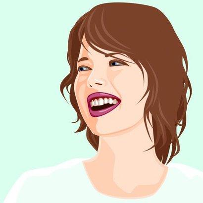 žena smích