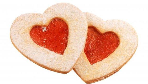 srdce cukroví