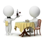 stůl jídlo číšník