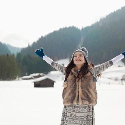 žena v zimě
