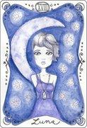 Tarot karta luna