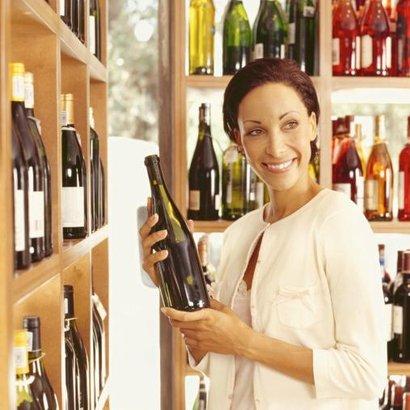 žena víno