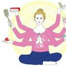 multitasking ilustrace