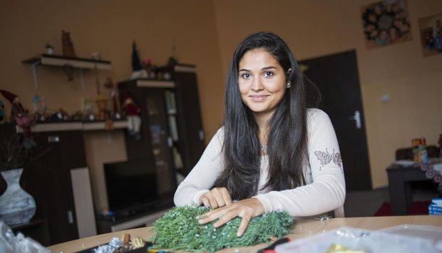 Sandra vyrábí do Obchůdků sAlbertem adventní věnce a další dekorace již od roku 2012