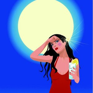 žena slunce horko