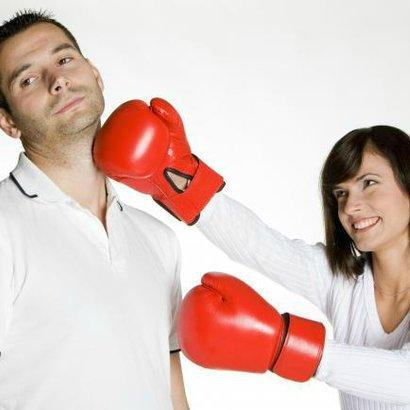 muž žena box souboj