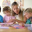 děti učitelka