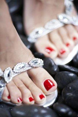 nohy nehty střevíčky